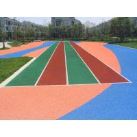 China Non-static Rubber Playground Mats , Colored Rubber Granules Carpet on sale