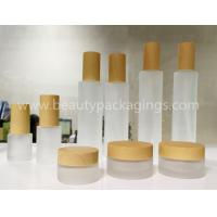 China In-stock Frost Glass Liquid Cosmetic Bottles And Face Cream Jars on sale