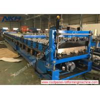 China Floor Decking Steel Profile Roll Forming Machine Easy Operate With Auto Stacker on sale