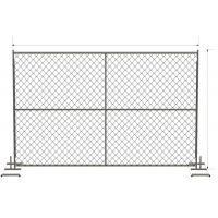 "6 foot x 12 foot chain link mesh temporary fencing panels with a 1 3/8"" x 16GA and 2-3/8 inch temp fence Manufactures"