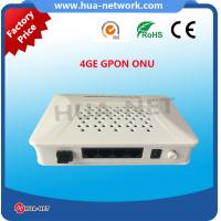 Quality HZW-G804 1GE 4FE GPON ONU fully compatibility with OLT based on Broadcom/Huawei/ZTE/MTK chipset for sale
