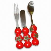 Polyresin Butter Spreader with Tomato Design, Set of 4, 6 and 8 Pieces are Available Manufactures