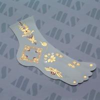 2015 Charming Flash Metallic Gold Jewelry Temporary Foot Tribe Tattoos Manufactures