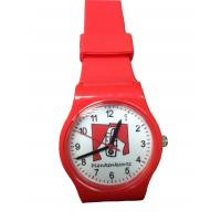 China Ultrathin Red Gift Watch PVC Strap and Special Design Dial For Teenager on sale
