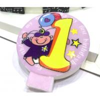 Specialty Round Numeral Candles For Birthdays With Colored Background Star Printed Manufactures