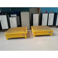 Steel Drum Spill Containment Pallets , Spill Containment Platform Yellow