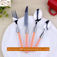 18/0 Mirror Polish ABS/PS Duotone Plastic Handle Cutlery Set Manufactures