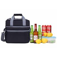 Fashionable Insulated Beach Tote Cooler Bag / Insulated Bottle Cool Bag For Vacation Manufactures
