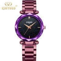 KINYUED Bracelet High Quality Quartz Movement Watches Fashion Sky Starry Stainless Steel Ladies watch. Manufactures