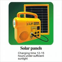 Speaker 5V 3W Solar Panel Light Kit IP65 Waterproof Durable With Radio Sd Card Manufactures