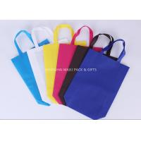 Grocery Promotional Non Woven Gift Bags Fabric Foldable Blue or Red Customize Printed Manufactures