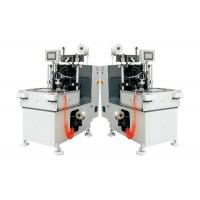 Double Heads Stator Lacing Machine With Turntable For Electrical Fan Motor Making Manufactures