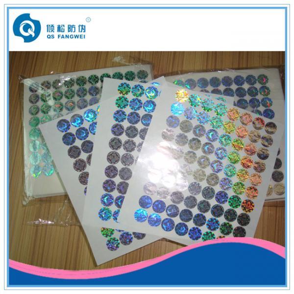 Quality Custom Hologram Stickers For Supermarket , Waterproof Laser Printer Labels for sale