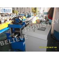Hydraulic Cutting Type Rolling Shutter Slats Roll Forming Machine With Punching Holes Manufactures