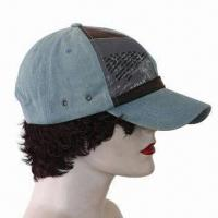 Baseball Cap, Made 100% Cotton Twill, Fabric Washed Manufactures