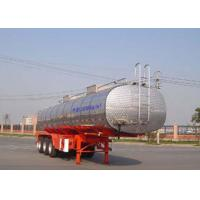 30000L Grape Wine / Milk Liquid Tank Trailers Stainless Steel SS304 Material Manufactures