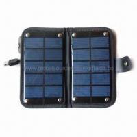 China 2,000mAh Foldable Solar Power Mobile Charger with USB Output on sale