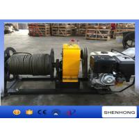 Quality 5 Ton HONDA Gas Engine Powered Winch Wire Rope Winch For Power Construction for sale