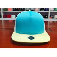 Fashionable Mix Color Blank Custom design logo Flat Bill Plastic buckle Snapback Caps Hats Manufactures