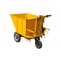 China Vegetable Greenhouse 350W 5 Km/H 200kgs Hand Dump Trolley on sale