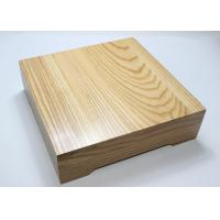 Ash Wood Personalized Wooden Serving Tray , Square Food Tray With Cover Manufactures