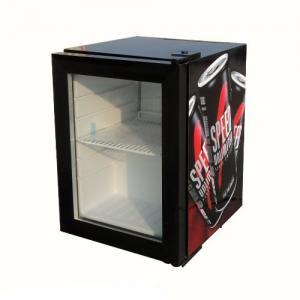 China 21L top single glass door beverage hotel mini fridge SC21 on sale