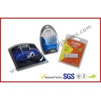 Folded Cable Transparent Plastic Clamshell Packaging For USB With Paper Insert Manufactures