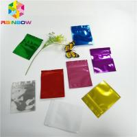 Three Side Seal Foil Pouch Packaging Metalized Resealable Zipper For Tea / Milk Powder Manufactures