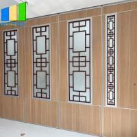 Sliding partition walls include grill glass design with aluminum frame Manufactures