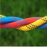 high quality 10.5mm polyester safery braided rope used for mountain climbing and rescue Manufactures