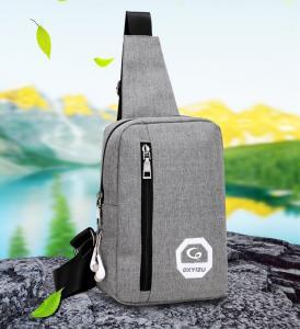 China Newest  shoulder bag casual joker diagonal canvas bag men's polyester chest outdoor polyester bag on sale