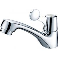 CE Durable Single Cold Water Taps / Brass Water Saving Ceramic Basin Faucet for Public Manufactures