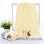Cute Rabbits Kids Beach Towels / Microfiber Face Towel For Pool Swimming Manufactures