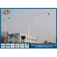 Anti - Rust Steel Traffic And Telescopic CCTV Camera Pole More Than 15 Years Design Manufactures