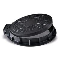 China Round Light Duty Cast Iron Manhole Cover 600 x 600 With Frame SGS Approval on sale