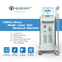 China 2018 new model Soprano Ice 3 in 1 three wavelengths painfree hair laser removal system 808 755 1064 FDA on sale
