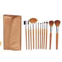 Makeup brush set, Makeup brush, beauty tools goat hair with wooden handle Manufactures