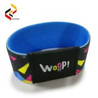 Wholesale reusable long range 13.56MHz ISO15693 woven elastic stretch RFID wristband Manufactures