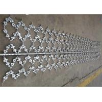 Custom Hot Dipped Galvanized Welded Barbed Wire Mesh Protection Fence Panel Manufactures