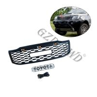 China Mesh Cover Exterior Replacement Front Grill Mesh Abs Black For Toyota Hilux Vigo 2012+ on sale