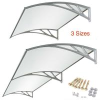 Manual Retractable Polycarbonate Door Awnings High Class ABS Materials Manufactures