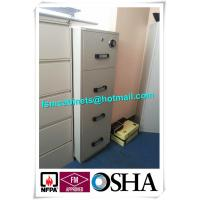 4 Drawer Fire Safe File Cabinet , Fire Resistant File Cabinet  For Office Data Manufactures