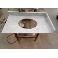 22 Inch Prefab Vanity Tops / White Carrera Marble Countertops Durable For Home Manufactures