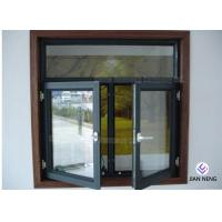 Tempered Safety Glass Aluminum Casement Windows , Powder Coating Finished Manufactures
