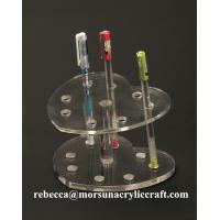 China 8 slots custom high quality clear acrylic pen display stand manufacturer in China on sale
