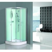 Bath White Sector Shower Enclosure Shinning Chrome Framed With Mirror Manufactures