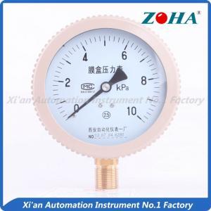 China High Temperature General Instruments Pressure Gauge For Boiler Ventilation Measuring on sale