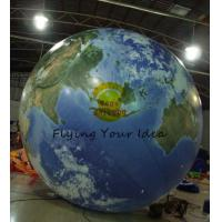4m Round Advertising Helium Balloons , Inflatable Ground Grobal Balloons For Celebration Manufactures