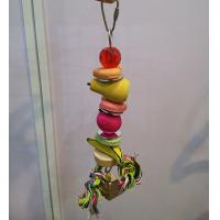 wooden pear and banana bird kabob toys with acrylic beads n mirror and bird treat Manufactures
