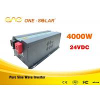 Pure Sine Wave 24v To 110v Inverter 4000 Watts With UPS Charger Manufactures